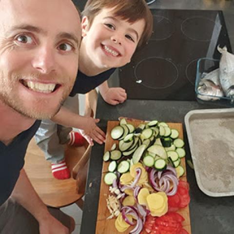 recette 4 : Daurades royales aux légumes cuisinés en croûte de pain