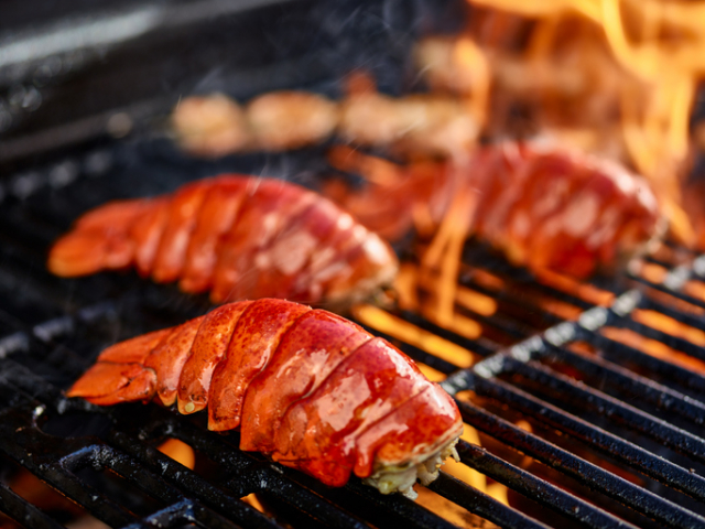 Les grillades de produits de la mer