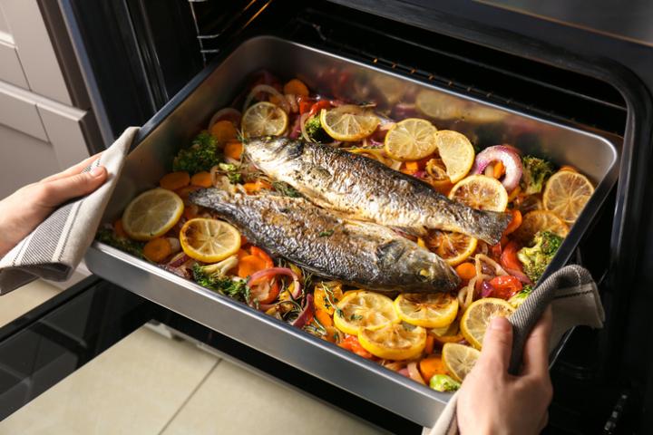 Les produits de la mer au four