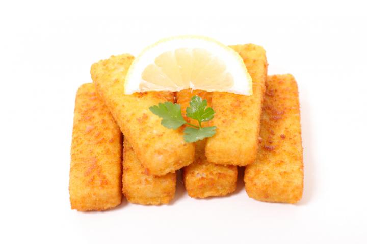 Les produits de la mer panés