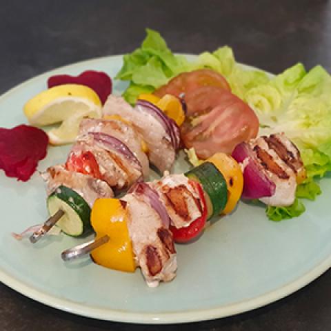 Brochettes de poissons exotiques et marinade