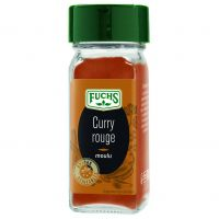 Curry rouge moulu flacon verre 80ml 38g