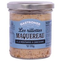 RILLETTES MAQUEREAU MOUTARDE 170G