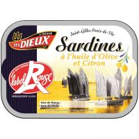 SARDINES LABEL ROUGE CITRON 115G