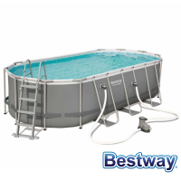 Piscine tubulaire ovale Power Steel Frame Pools 5.49 x 2.74 x H.1.22m