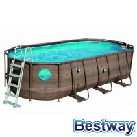 Piscine tubulaire ovale Power Steel Swim Vista Pool 5.49x2.74xH.1.22m