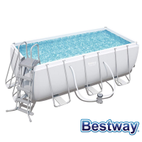 Piscine tubulaire rectangle Power Steel Frame Pools 4.12 x 2.01 x H.1.22m