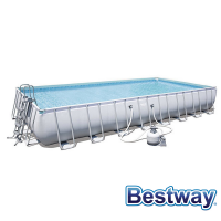 Piscine tubulaire rectangle Power Steel Frame Pools 9.56 x 4.88 x H.132m