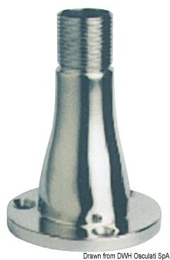 GLOMEX Universal antenna base in polished 316 stainless steel