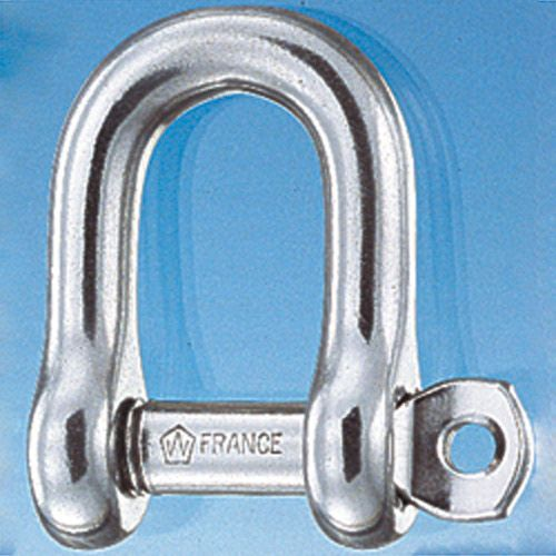Manille forgée inox axe imperdable droite