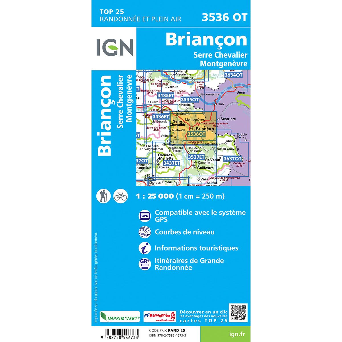 Carte Top 25 - 3536OT Briancon